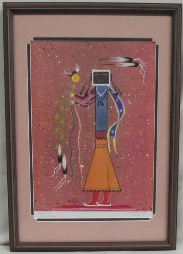 1993 Signed Indian Print - F. Kee Burnside
