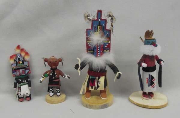 4 Miniature Hopi Route 66 Kachinas