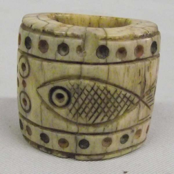 Vintage Carved Ivory Bead