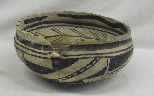 Rare Prehistoric Rio Grande  Painted Biscuit Ware Bowl