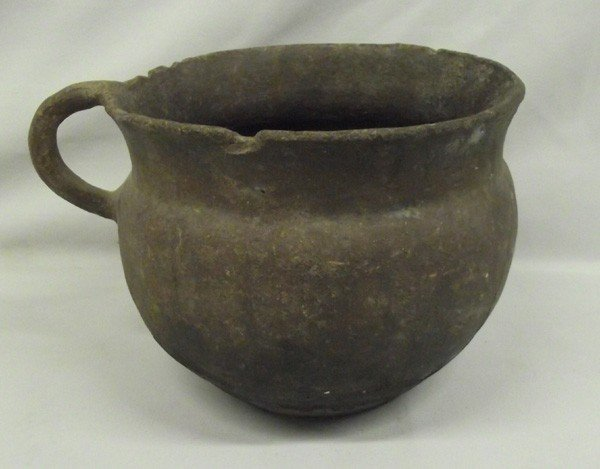 Historic 1800s Taos Micaceous Handled Jar