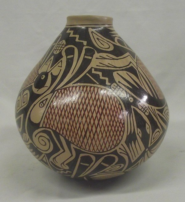 Mata Ortiz Polychrome Animal Jar - Gonzales