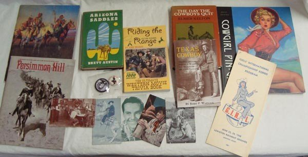Collection of Cowboy Collectibles - Books