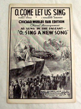 1934 Sheet Music ''O, Come Let Us Sing''