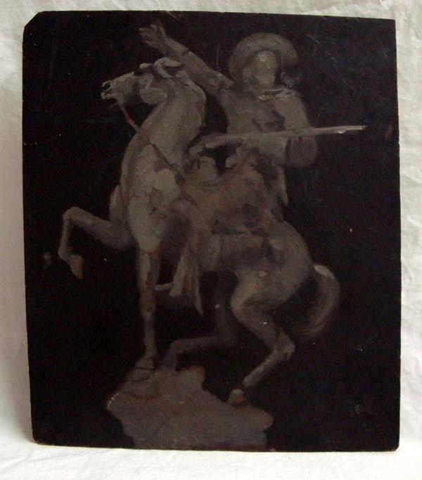 Painting on Board of Buffalo Bill