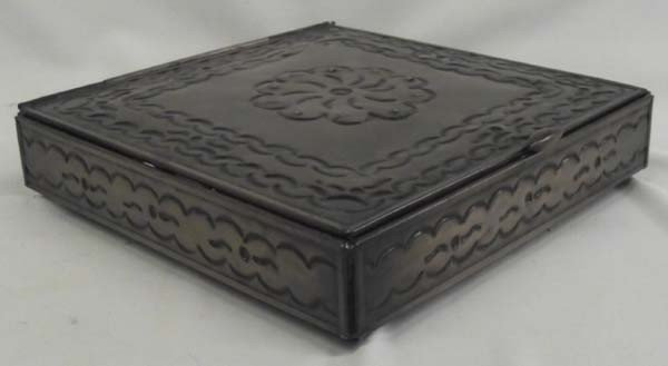 Polished Metal Mexican Jewelry Lidded Box