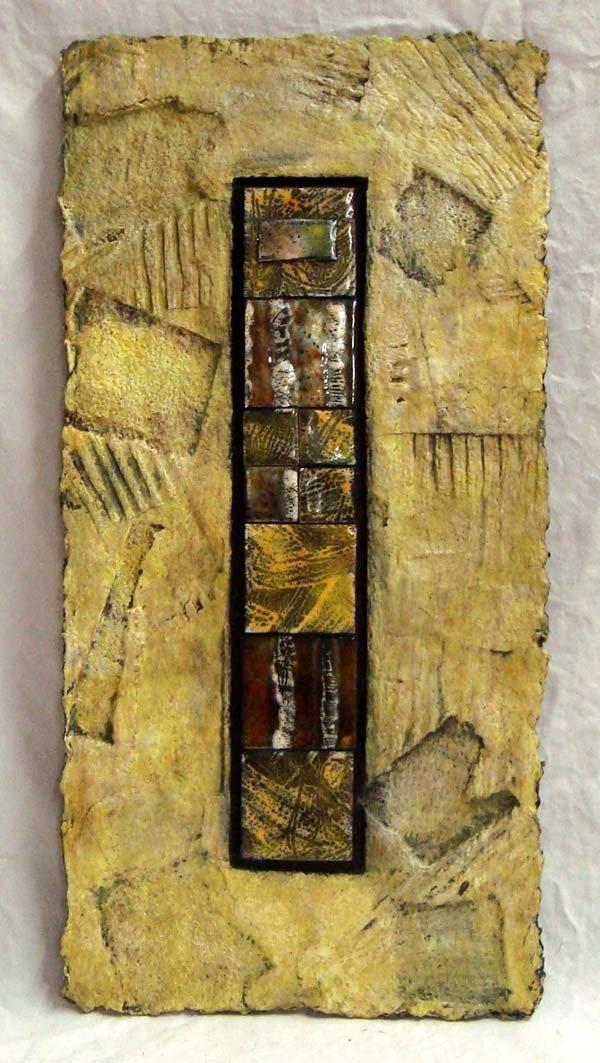 Cast Paper Ceramic Tile Collage - Britt Densford