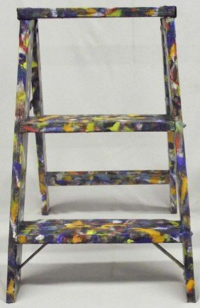 Hand Painted Stepladder By Major Benton