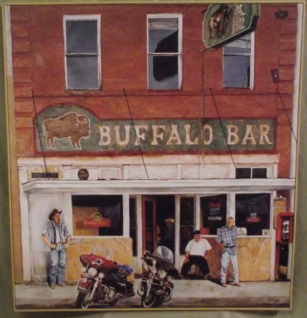 Original Giclee on Canvas ''Buffalo Bar''  - Lois Duffy