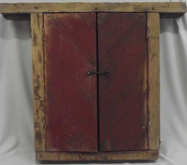 Antique Mexican Mortise & Tenon Wooden Window