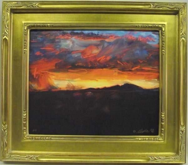 Framed Giclee ''Deming-Hard Rain'' - Narrie Toole