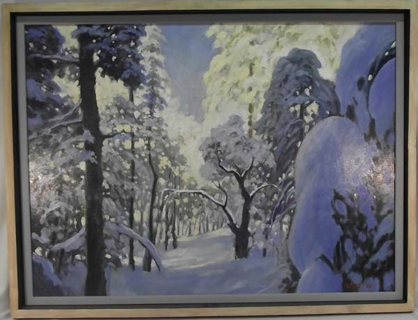 Original Oil ''Snow'' - Tom Holt