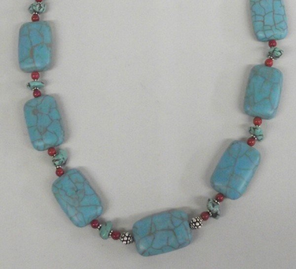 Turquoise Howlite Necklace by Donna Dressler
