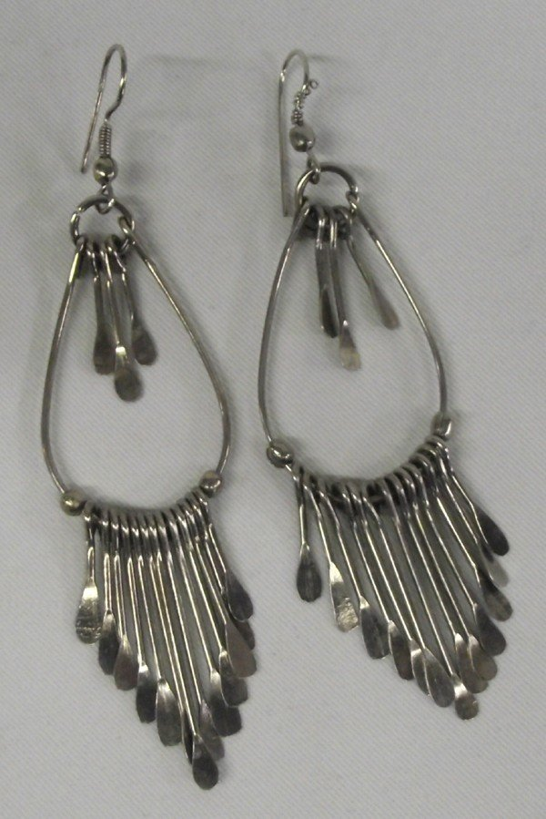 Kenyan Silver Pierced Earrings