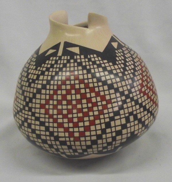 Mata Ortiz Polychrome Geometric Jar - L Ortiz