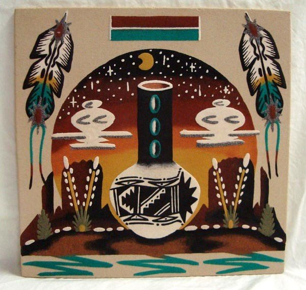Navajo Sand Painting-Wallace & Denise Watchman Jr.