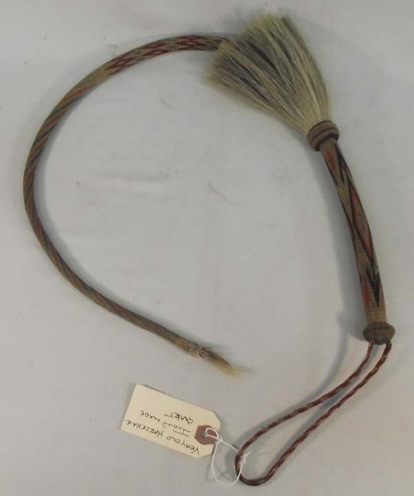 Antique Indian Hitched Quirt - Horsehair