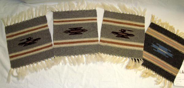 Four Chimayo New Mexico Wool Weavings