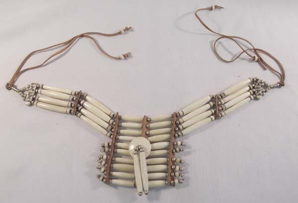 Sioux Hare Bone Sterling Silver Choker