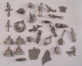 Sterling Silver Charms - Collection of 28 Pcs.