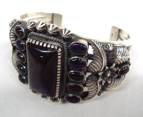 Navajo Sterling Sugilite Bracelet - Kirk Smith