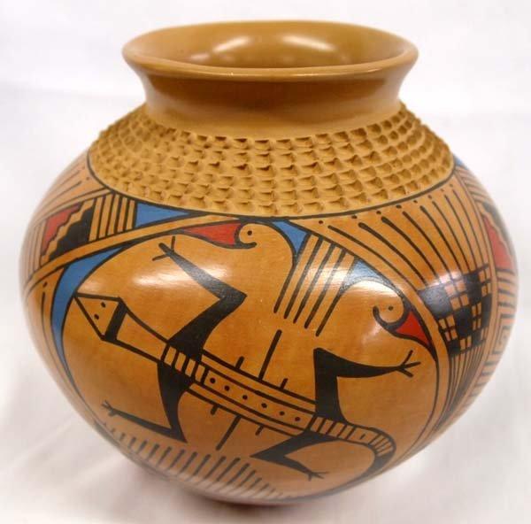 Mata Ortiz Polychrome Lizard Jar - Jesus Tena