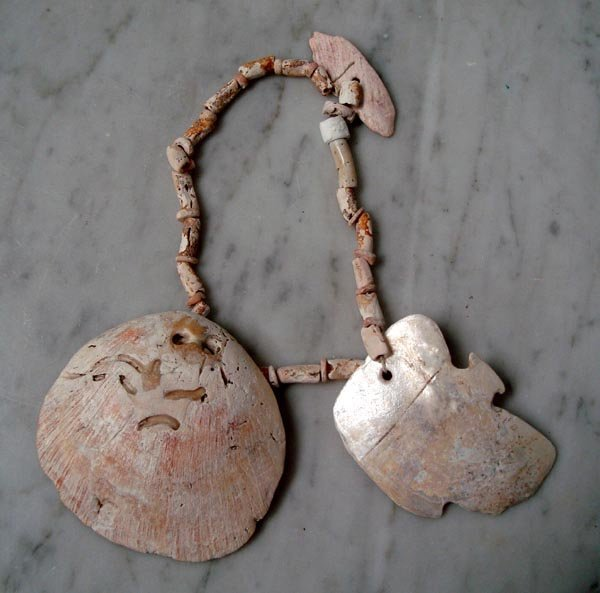 Prehistoric Multi-shell Pendant and Bead Necklace