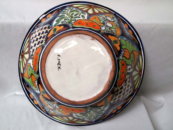 Mexican Talavera Hand Painted Large Pitcher & Bowl - 4