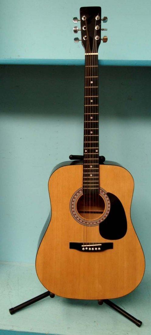 Esteban Acoustic Guitar and Proel Guitar Stand