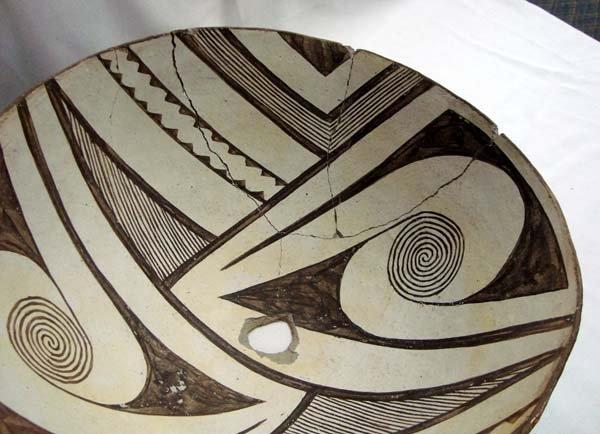 Prehistoric Geometric Classic Mimbres Bowl - 3