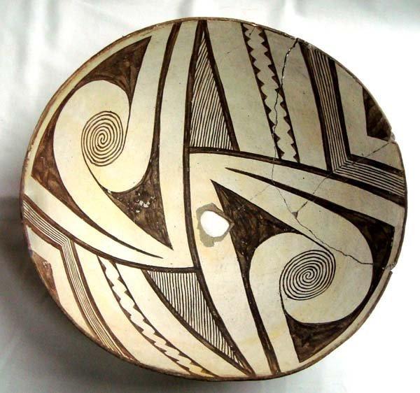 Prehistoric Geometric Classic Mimbres Bowl - 4