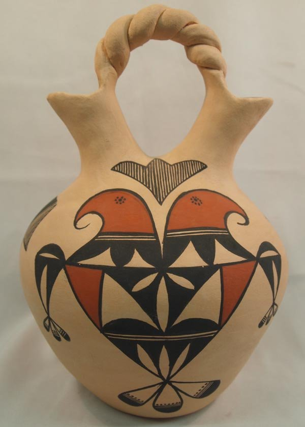 Acoma Traditional Wedding Vase - Sharon Stevens