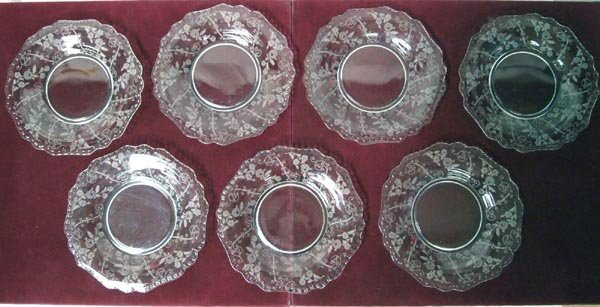 Cambridge Glass, ''Elaine'', 7 8'' Service Plates
