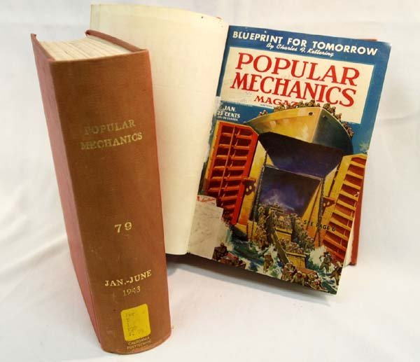 Two Hardback Books of 1943-44 Popular Mechanics