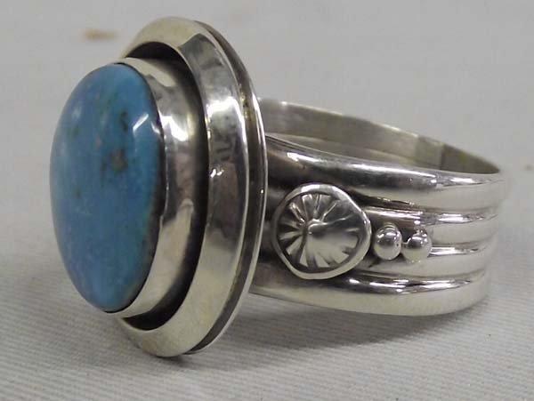 Navajo Sterling Turquoise Ring - Ben Begay