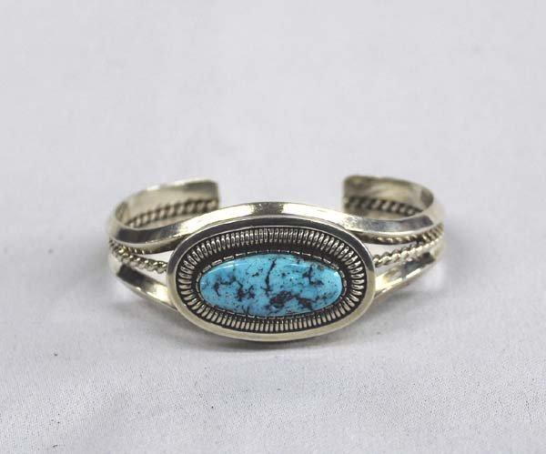 Navajo Sterling Turquoise Bracelet - Vandever