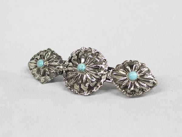 Navajo Sterling Turquoise Barrette by Begay