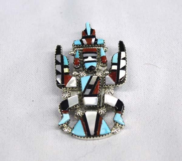 Zuni Sterling Kachina Pin Pendant by Cellecion