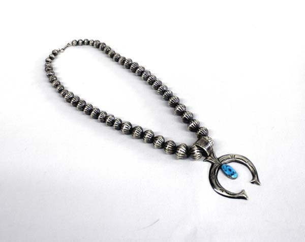 Navajo Sterling Melon Bead Necklace - Mitchell