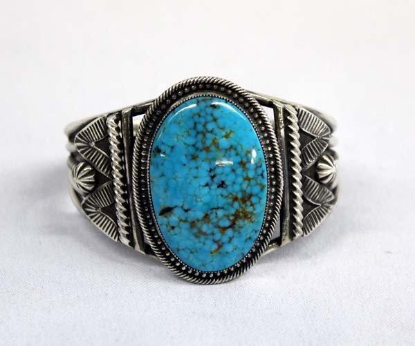 Navajo Sterling Turquoise Bracelet - Rick Martinez