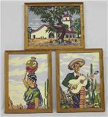 Vintage Framed Paint by Number Paintings