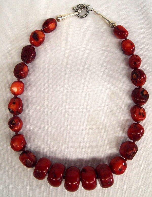 Navajo Apple Coral Necklace