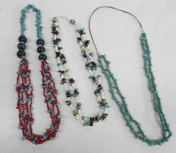 3 Southwestern Bead Necklaces