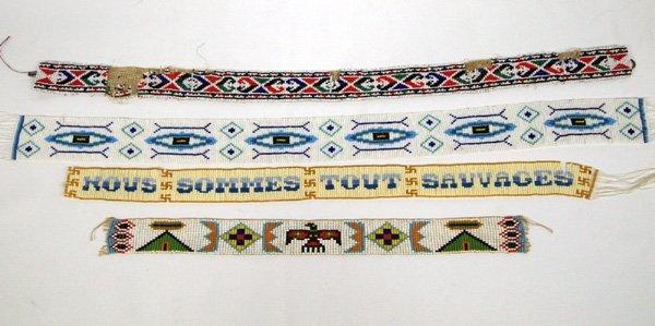 Plains Indian Sash  Beadwork