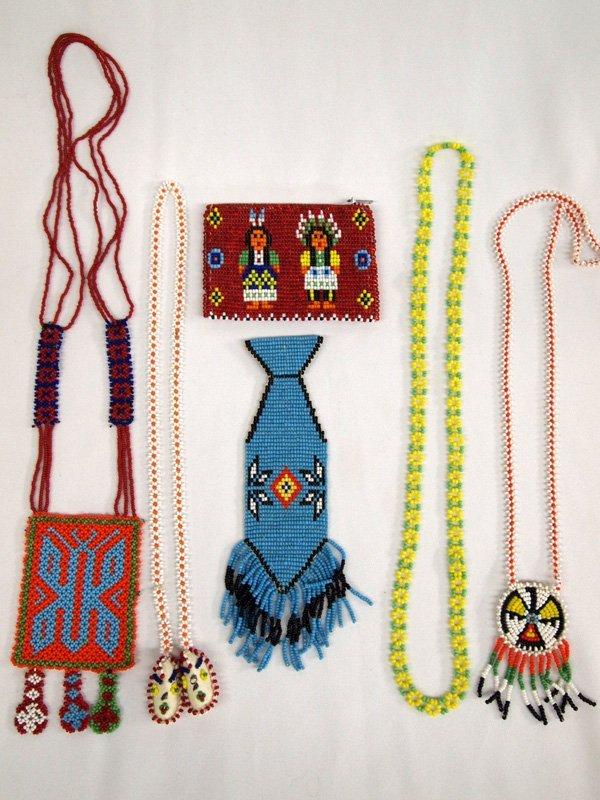 Plains Indian Beadwork - Six Pieces