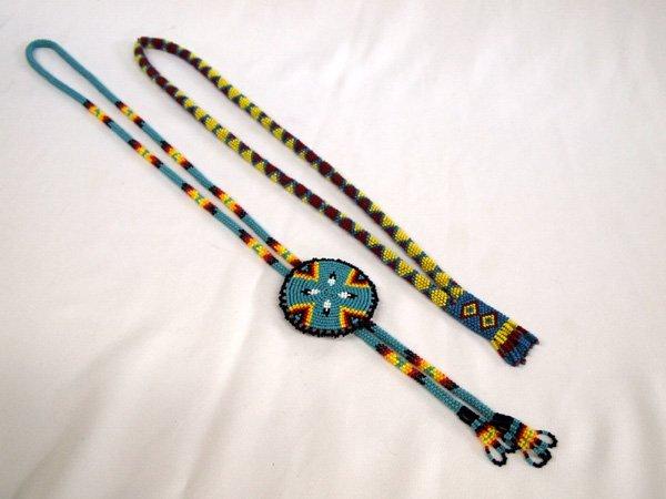 3 Plains Indian Beadwork Necklaces