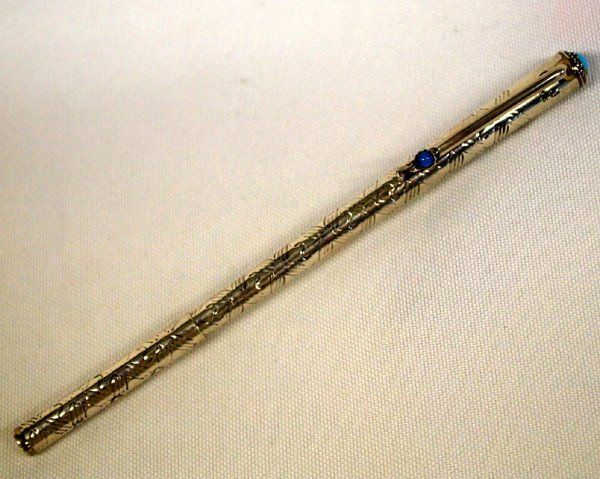 Navajo Sterling and Turquoise Pen by Joe Corbet