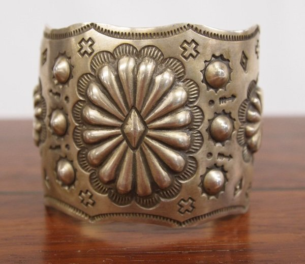 Navajo Sterling Silver Cuff Bracelet, Signed