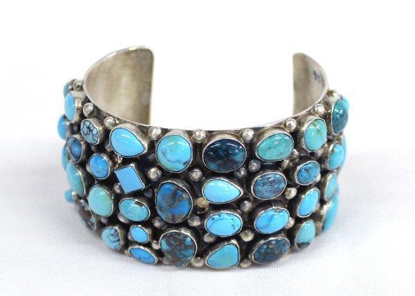 Navajo Pawn Multi Colored Turquoise Bracelet