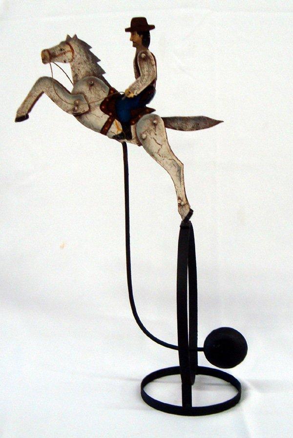 Mechanical Balancing Metal Bucking Horse Toy